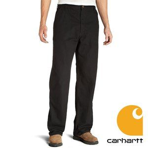 Carhartt Men's Washed Duck Work Dungaree Pants Blk